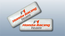 Наклейка Honda Racing Team Белая