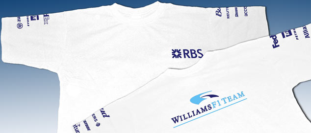 Футболка Williams SponsorLogo-06 Белая